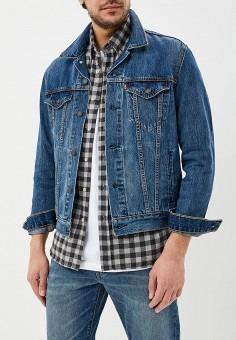 Куртка джинсовая, Levi's?, цвет: синий. Артикул: LE306EMEHJI4. Одежда / Верхняя одежда / Джинсовые куртки
