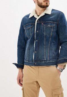 Куртка джинсовая, Levi's?, цвет: синий. Артикул: LE306EMFOUS0. Одежда / Верхняя одежда / Джинсовые куртки