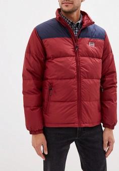 Пуховик, Levi's?, цвет: красный. Артикул: LE306EMGAXR9. Одежда / Верхняя одежда / Пуховики и зимние куртки