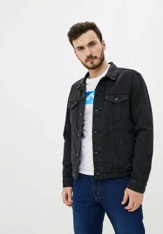 Куртка джинсовая, Levi's?, цвет: черный. Артикул: LE306EMHMRQ3. Одежда / Верхняя одежда / Джинсовые куртки