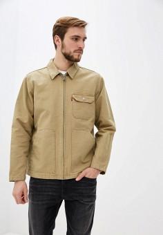 Куртка, Levi's?, цвет: бежевый. Артикул: LE306EMHPOF3. Одежда / Верхняя одежда / Легкие куртки и ветровки
