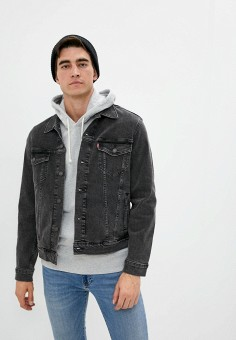 Куртка джинсовая, Levi's?, цвет: серый. Артикул: LE306EMJLNR1. Одежда / Верхняя одежда / Джинсовые куртки