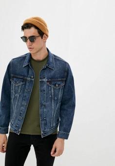 Куртка джинсовая, Levi's?, цвет: синий. Артикул: LE306EMJLNR3. Одежда / Верхняя одежда / Джинсовые куртки
