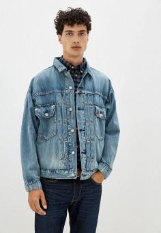 Куртка джинсовая, Levi's?, цвет: голубой. Артикул: LE306EMJLNR7. Одежда / Верхняя одежда / Джинсовые куртки
