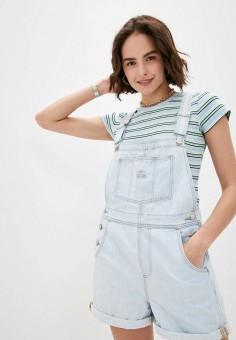 Комбинезон джинсовый, Levi's?, цвет: голубой. Артикул: LE306EWHHPE7. Одежда / Комбинезоны
