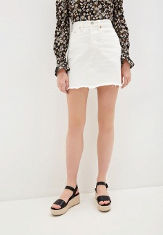 Юбка джинсовая, Levi's?, цвет: белый. Артикул: LE306EWHHPS2. Одежда / Юбки
