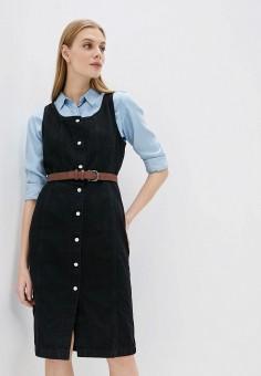 Платье джинсовое, Levi's?, цвет: черный. Артикул: LE306EWHHPX5. Одежда / Платья и сарафаны