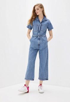 Комбинезон джинсовый, Levi's?, цвет: синий. Артикул: LE306EWHHPZ4. Одежда / Комбинезоны