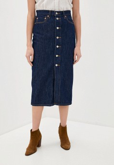 Юбка джинсовая, Levi's?, цвет: синий. Артикул: LE306EWHHQB1. Одежда / Юбки