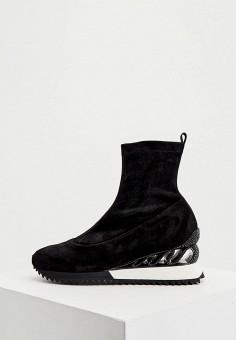 Полусапоги, Le Silla, цвет: черный. Артикул: LE682AWKIKW7. Обувь / Сапоги / Полусапоги
