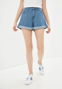Шорты джинсовые, Lee, цвет: голубой. Артикул: LE807EWHYJC6. Одежда / Шорты