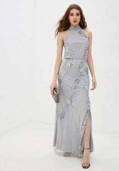 Платье, Little Mistress, цвет: серый. Артикул: LI005EWJSCG2. Одежда / Платья и сарафаны / Вечерние платья