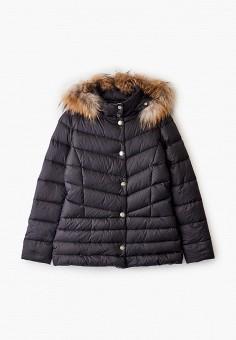 Пуховик, Liu Jo Junior, цвет: черный. Артикул: LI034EGFTZG5. Девочкам / Одежда / Верхняя одежда / Куртки и пуховики