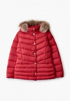 Пуховик, Liu Jo Junior, цвет: красный. Артикул: LI034EGFTZG7. Девочкам / Одежда / Верхняя одежда / Куртки и пуховики