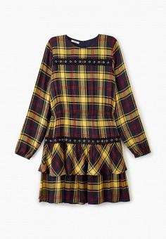 Платье, Liu Jo Junior, цвет: желтый. Артикул: LI034EGFTZH5. Девочкам / Одежда / Платья и сарафаны