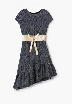 Платье, Liu Jo Junior, цвет: синий. Артикул: LI034EGICAN4. Девочкам / Одежда / Платья и сарафаны