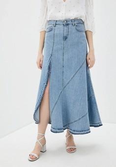 Юбка джинсовая, Liu Jo, цвет: голубой. Артикул: LI687EWHHLG7.