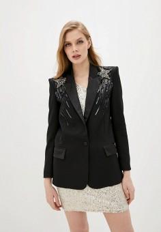 Пиджак, Liu Jo, цвет: черный. Артикул: LI687EWHHLP9. Одежда / Пиджаки и костюмы