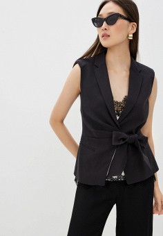 Жилет, Liu Jo, цвет: черный. Артикул: LI687EWHHLR3. Одежда / Пиджаки и костюмы