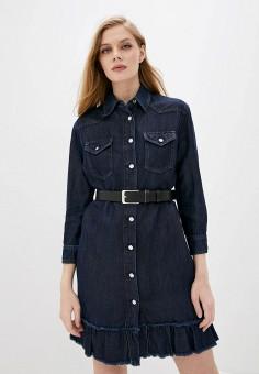 Платье джинсовое, Liu Jo, цвет: синий. Артикул: LI687EWHRIM1.