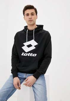 Худи, Lotto, цвет: черный. Артикул: LO004EMJBVF3. Одежда / Толстовки и олимпийки / Худи