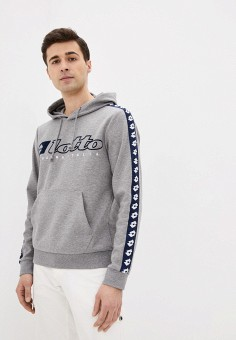 Худи, Lotto, цвет: серый. Артикул: LO004EMJBVF4. Одежда / Толстовки и олимпийки / Худи