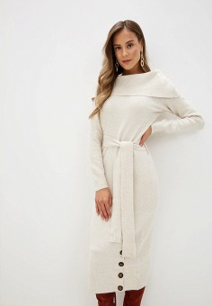 Платье, Love Republic, цвет: бежевый. Артикул: LO022EWHBQR2.
