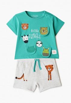 Костюм спортивный, Losan, цвет: зеленый, серый. Артикул: LO025EBICGT5. Новорожденным / Одежда