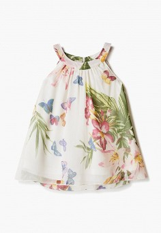 Платье, Losan, цвет: бежевый. Артикул: LO025EGICGR2. Девочкам / Одежда / Платья и сарафаны