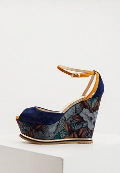 Босоножки, Loriblu, цвет: синий. Артикул: LO137AWKJAJ9. Обувь / Босоножки