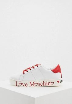 Кеды, Love Moschino, цвет: белый. Артикул: LO416AWHHQX0.