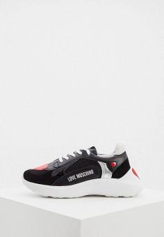 Кроссовки, Love Moschino, цвет: черный. Артикул: LO416AWHHQZ1.