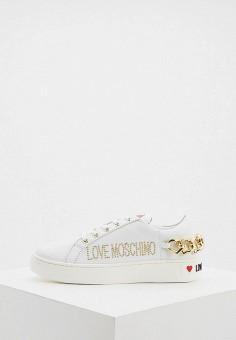 Кеды, Love Moschino, цвет: белый. Артикул: LO416AWHHRA2.