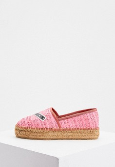 Эспадрильи, Love Moschino, цвет: розовый. Артикул: LO416AWJDYR5. Обувь / Эспадрильи