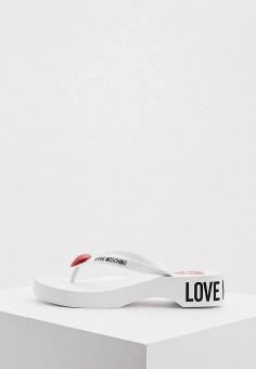 Сланцы, Love Moschino, цвет: белый. Артикул: LO416AWJDYT0.