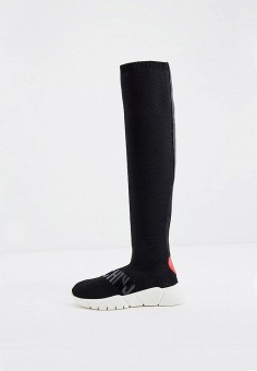 Ботфорты, Love Moschino, цвет: черный. Артикул: LO416AWJQJT0. Обувь / Сапоги