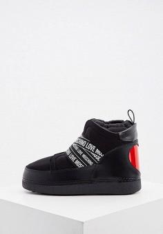 Луноходы, Love Moschino, цвет: черный. Артикул: LO416AWJYLR0. Обувь / Сапоги