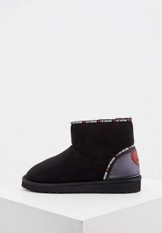 Полусапоги, Love Moschino, цвет: черный. Артикул: LO416AWJYLR2. Обувь / Сапоги / Угги и унты