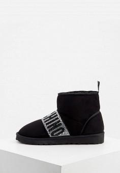 Полусапоги, Love Moschino, цвет: черный. Артикул: LO416AWJYLR3. Обувь / Сапоги / Угги и унты
