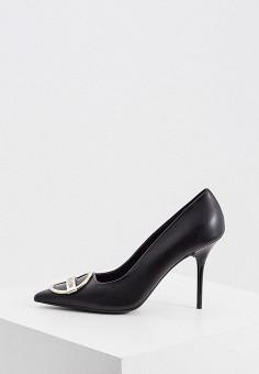 Туфли, Love Moschino, цвет: черный. Артикул: LO416AWKDZC7. Обувь / Туфли / Лодочки
