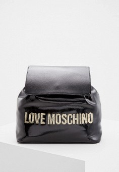 Рюкзак, Love Moschino, цвет: черный. Артикул: LO416BWFWPZ1. Аксессуары / Рюкзаки
