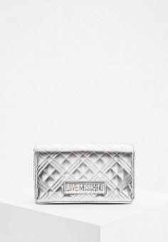 Сумка, Love Moschino, цвет: серебряный. Артикул: LO416BWHXFD6.