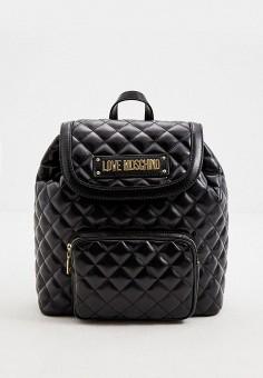 Рюкзак, Love Moschino, цвет: черный. Артикул: LO416BWJDOE4. Аксессуары / Рюкзаки / Рюкзаки