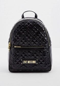 Рюкзак, Love Moschino, цвет: черный. Артикул: LO416BWJQIX6. Аксессуары / Рюкзаки