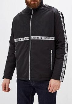 Куртка утепленная, Love Moschino, цвет: черный. Артикул: LO416EMFXPC1. Одежда / Верхняя одежда / Демисезонные куртки
