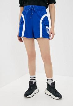 Шорты спортивные, Love Moschino, цвет: синий. Артикул: LO416EWHRDK8. Одежда / Шорты