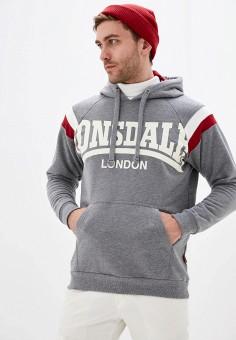 Худи, Lonsdale, цвет: серый. Артикул: LO789EMHVYT1. Одежда / Толстовки и олимпийки / Худи