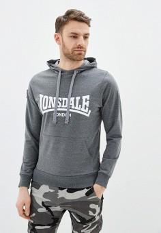 Худи, Lonsdale, цвет: серый. Артикул: LO789EMITHJ1. Одежда / Толстовки и олимпийки / Худи