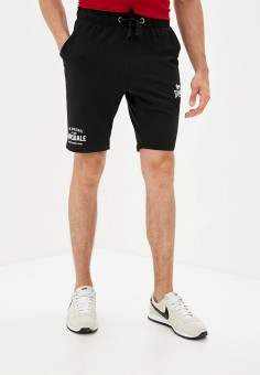 Шорты спортивные, Lonsdale, цвет: черный. Артикул: LO789EMKCNM3. Одежда / Шорты