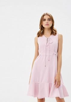 Платье, Lusio, цвет: розовый. Артикул: LU018EWBZKZ1.